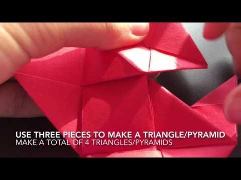 Origami ball Chinese New Year's lantern