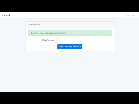 Email and Reset Password - Auth with Laravel [Part 10]