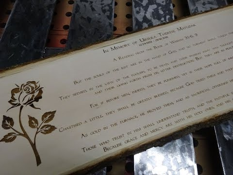 Live Edge Memorial Plaque: Custom CNC Laser Engraving Basswood