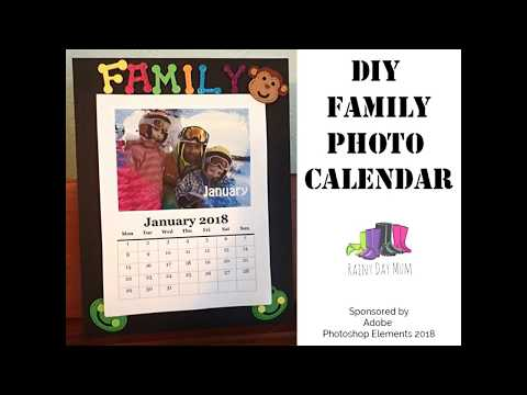 DIY Family Photo Calendar