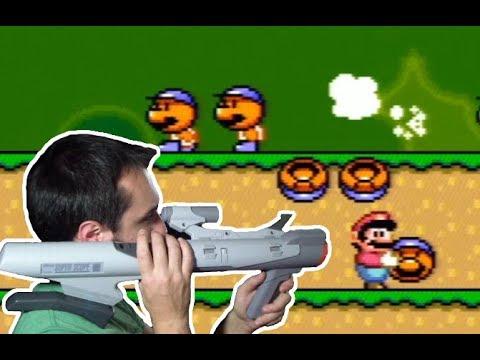 Super Scope on a Real Super Mario World Cartridge