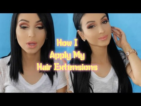 How I Apply My Hair Extensions ⎮How to Blend With Shorter Hair