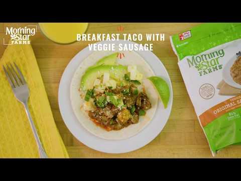 MorningStar Farms® Breakfast Tacos with Veggie Sausage Recipe