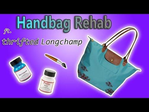 HANDBAG REHAB FT $5 THRITED LONGCHAMP TOTE - TEAR REPAIR