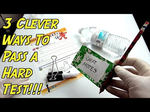 3 Clever Ways To Pass a Hard Test or Exam Using School Supplies (School Life Hacks)