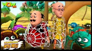 Makdi Ka Jala - Motu Patlu in Hindi - 3D Animation Cartoon for Kids