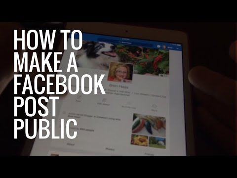 How to Make a  Facebook Post Public on Mobile