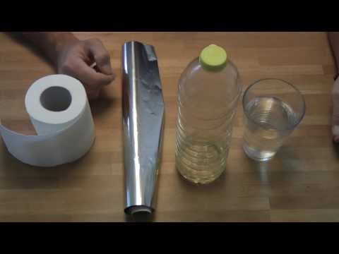 How to make an oil lamp using toilet paper and tinfoil - survivalist oil lamp - DIY