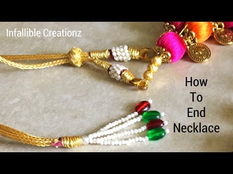 How to end the necklace | How to finish the necklace end | How to tie the necklace end