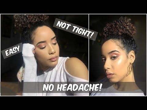 Big Messy Bun Tutorial for Curly, THICK, & Long Hair! | Hacks