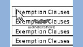 Download Exemption Clauses Video