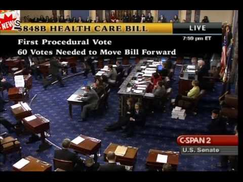 Health Reform Bill Passes First Procedural Vote In Senate Gets 60 Votes!