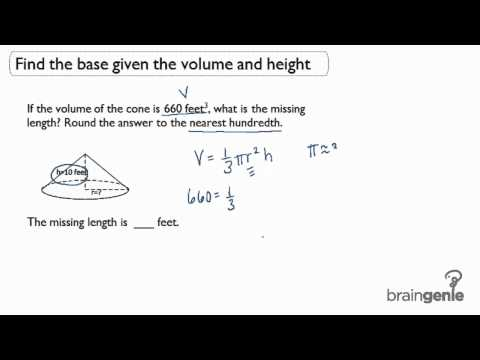 3.1.3 Find the base given the volume and height