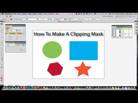 Illustrator CS5 Tutorial - How To Make A Clipping Mask (New)