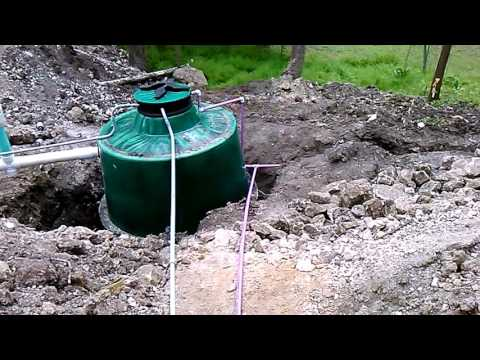 ClearStream aerobic septic system installation