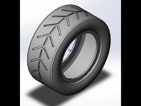solid works | tutorials | How to model car Tire ?