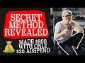 I SPENT $20 and made $800   *MY SECRET METHOD REVEALED*   Shopify Dropshipping