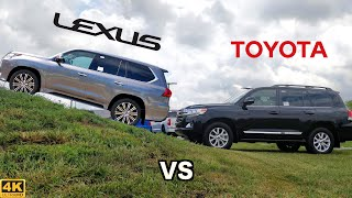 TOUGHEST TOYOTA SUV -- 2020 Lexus LX 570 vs. 2020 Toyota Land Cruiser: Comparison