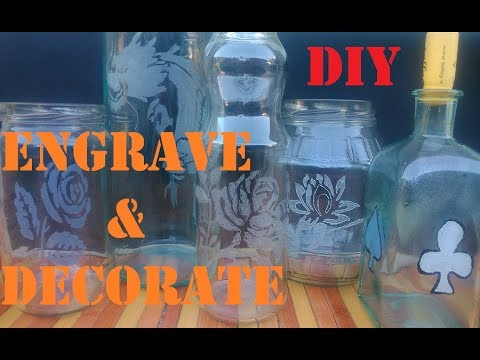 Engrave & Decorate Glass DIY