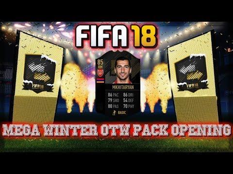 FIFA 18 Mega Winter OTW Pack Opening + Mkhitaryan SBC Solution     We get ANOTHER Walkout!