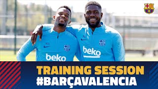 Second training session to prepare the Cup final against Valencia
