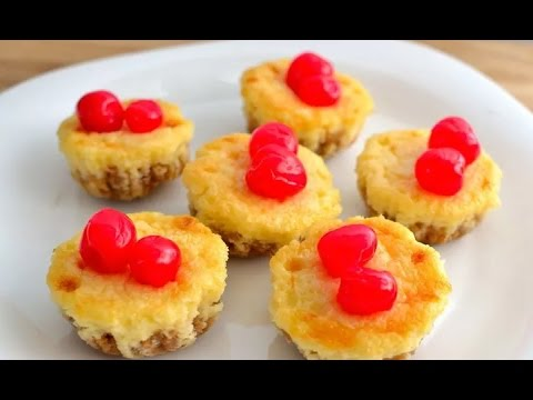 How to Make Cherry Cheesecake Mini Cupcakes At Home Simple And Easy Homemade!!! By Anything To Make