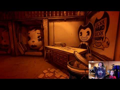 BENDY VS PROJECTIONIST FIGHT! Bendy and the Ink Machine Chapter 4 Part 2 Twin Toys Jumpscare