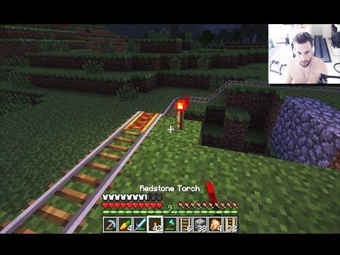 Powered Rail System - Minecraft Day #48