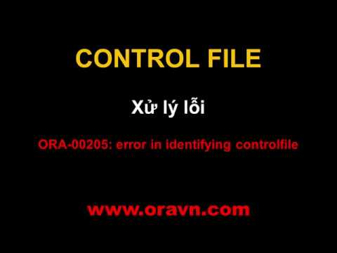 ORACLE: Controlfile - ORA-00205: error in identifying controlfile [Solved]