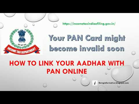 How to link your Aadhar number with PAN card online (English)