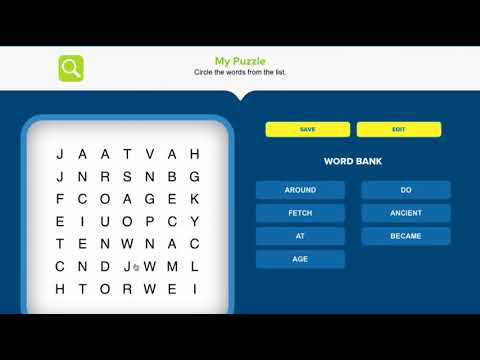 Creating a Word Search Puzzle in Puzzle Creator