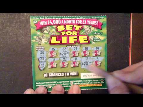 Results of whole book $2 Set for life  CA Lottery scratcher