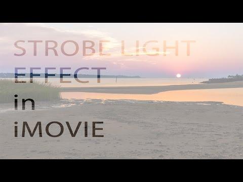 Variable Strobe Light effect using iMovie