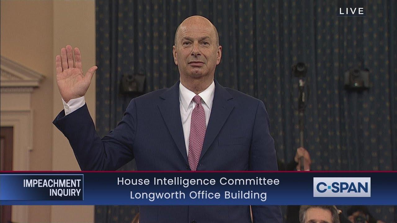 House Impeachment Inquiry Hearing -  Ambassador Gordon Sondland Testimony