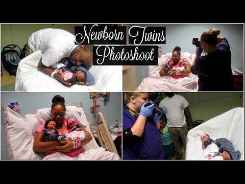Newborn Twins Photoshoot With Parents Vlog📷 | Hospital Stay after Delivery