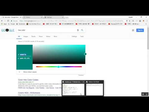 Python Tkinter GUI tutorial 04 : Hex Colors