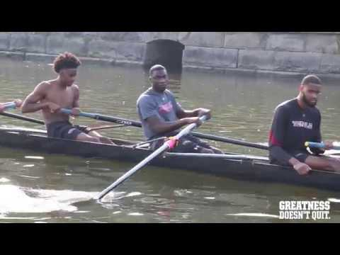 Temple MBB Joins Men's Crew for Rowing Workout
