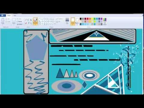 Making A Website Header Image With MS Paint (Time Lapse)