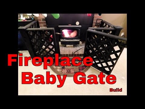 Fireplace hearth baby gate build