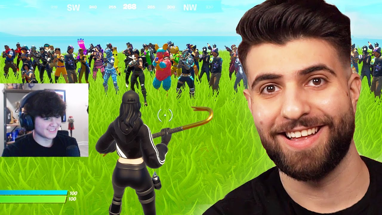 Worlds BEST Fortnite Player vs 50 Players!