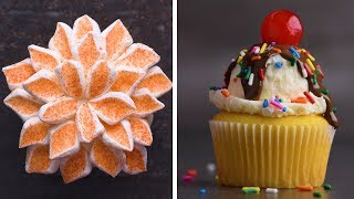 Download 21 Clever and Stunning Cupcakes!   Delicious Animal and Flower Cupcakes by So Yummy Video