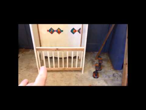 Baby Bed/Crib to Bench conversion