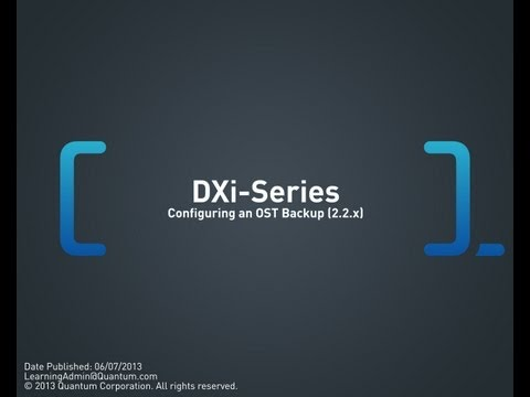 DXi-Series: Configuring an OST Backup (2.2.x and 2.3)