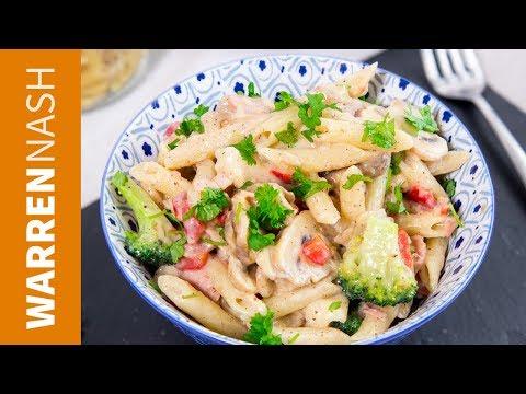 DELICIOUS White Sauce Pasta Recipe - EASY traditional Italian Recipes by Warren Nash