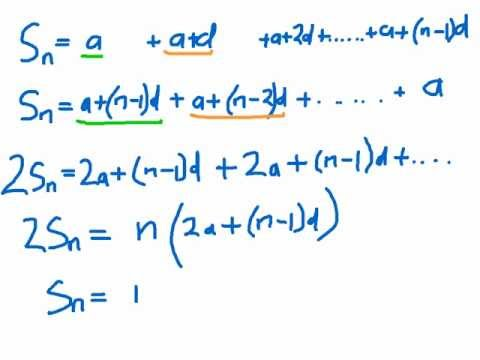 How to prove the sum of n terms of an arithmetic series