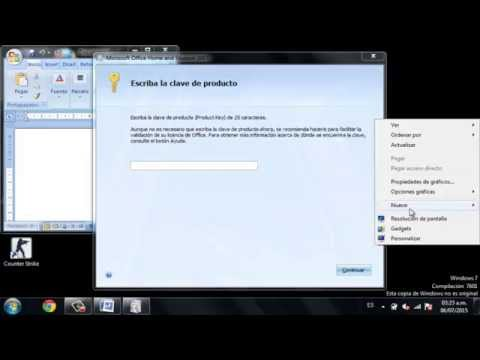 TUTORIAL -Como sacar el codigo key del Word  2007