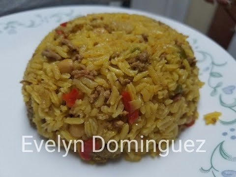 Puerto Rican  Rice with Bacon and Ground Beef (Arroz Vago )