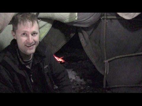 Winter Survival Shelter - 75 Degrees Inside - Overnight Stay!!!