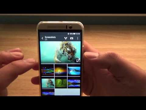 How to select multiple pictures at the same time HTC One M9