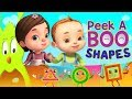 Peek a boo Shapes Song Cartoon Animation For Kids Many More Nursery Rhymes For Children